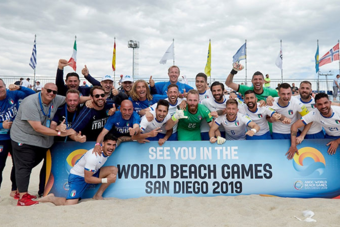 L'Italia batte la Francia per 10-2 e si qualifica per i World Beach Games